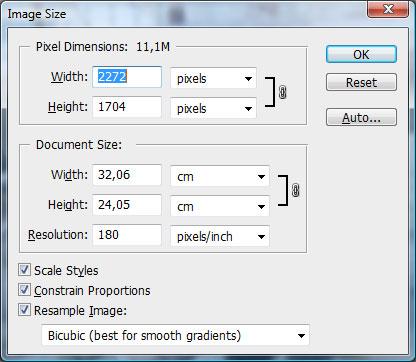 image size penceresi